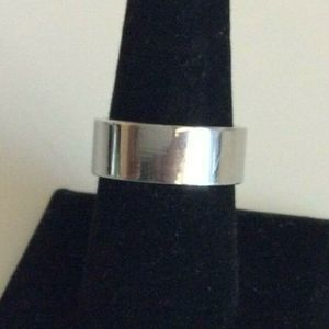 Milor Italy Wide Band Ring Stainless Steel Band